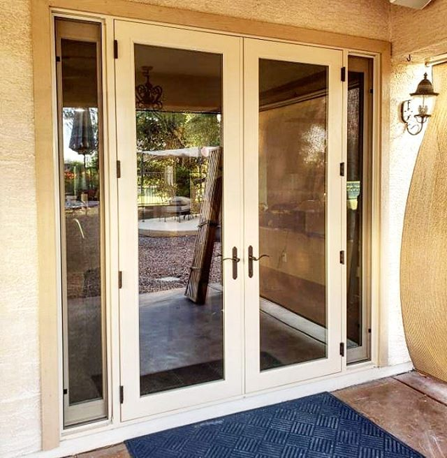 Arizona Window and Door in Scottsdale and Tucson showing french doors to backyard