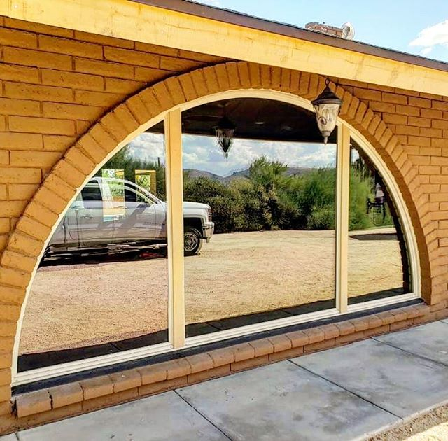 Arizona Window and Door in Scottsdale and Tucson showing large arched windows