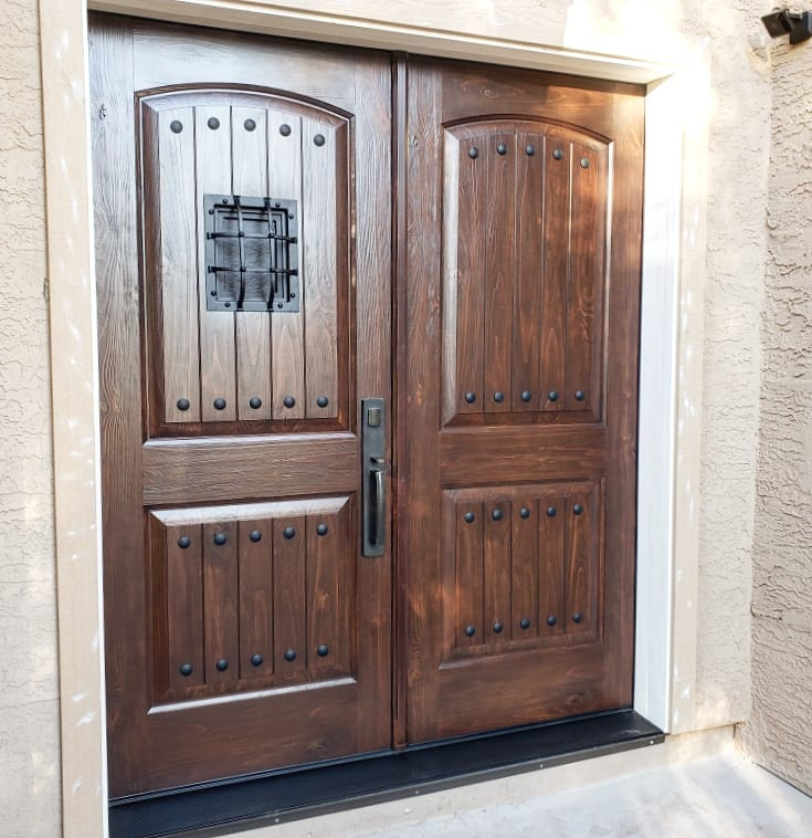 Arizona Window and Door in Scottsdale and Tucson showing wood front door