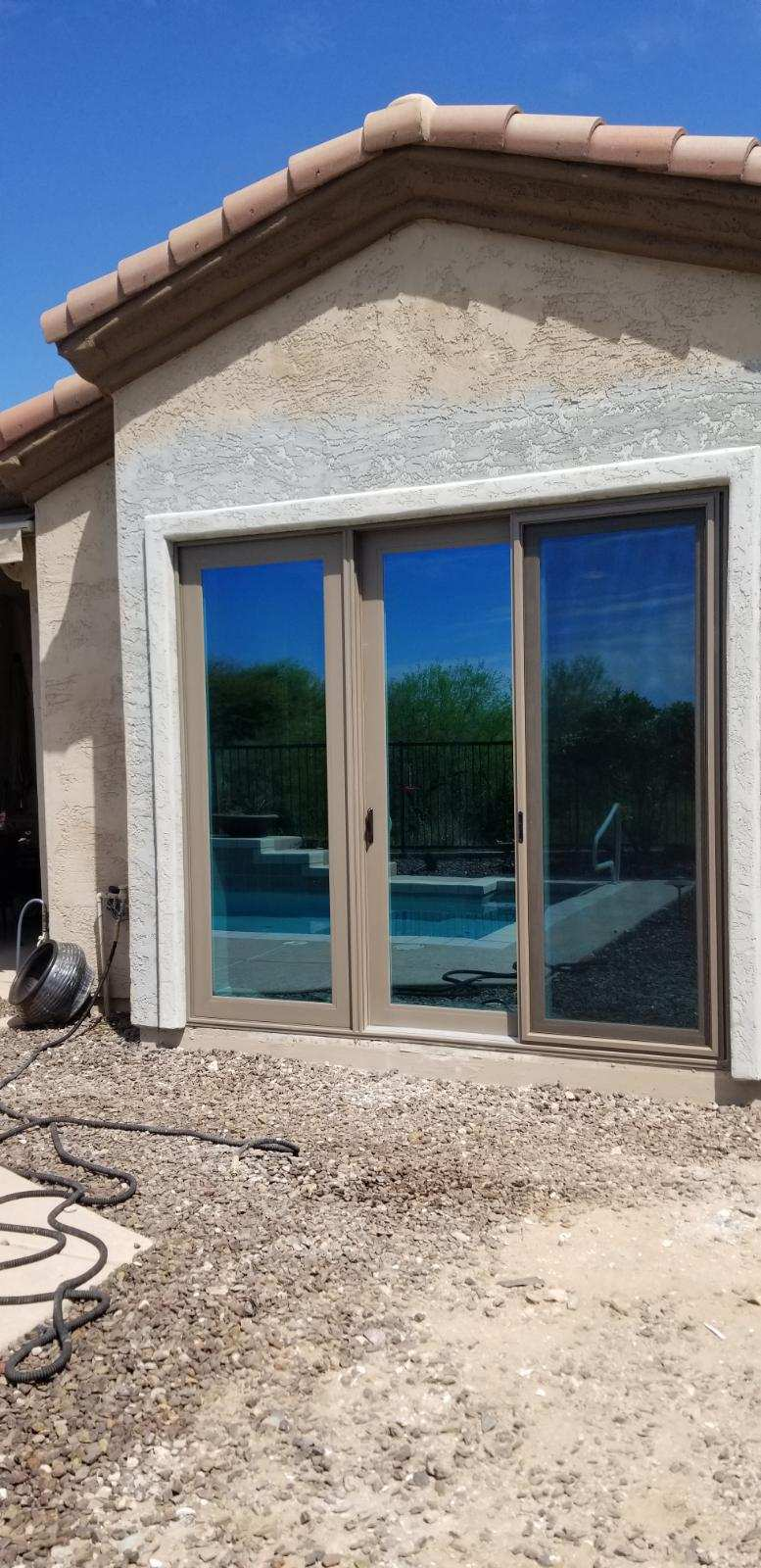 Arizona Window and Door in Scottsdale and Tucson showing back door panel slider