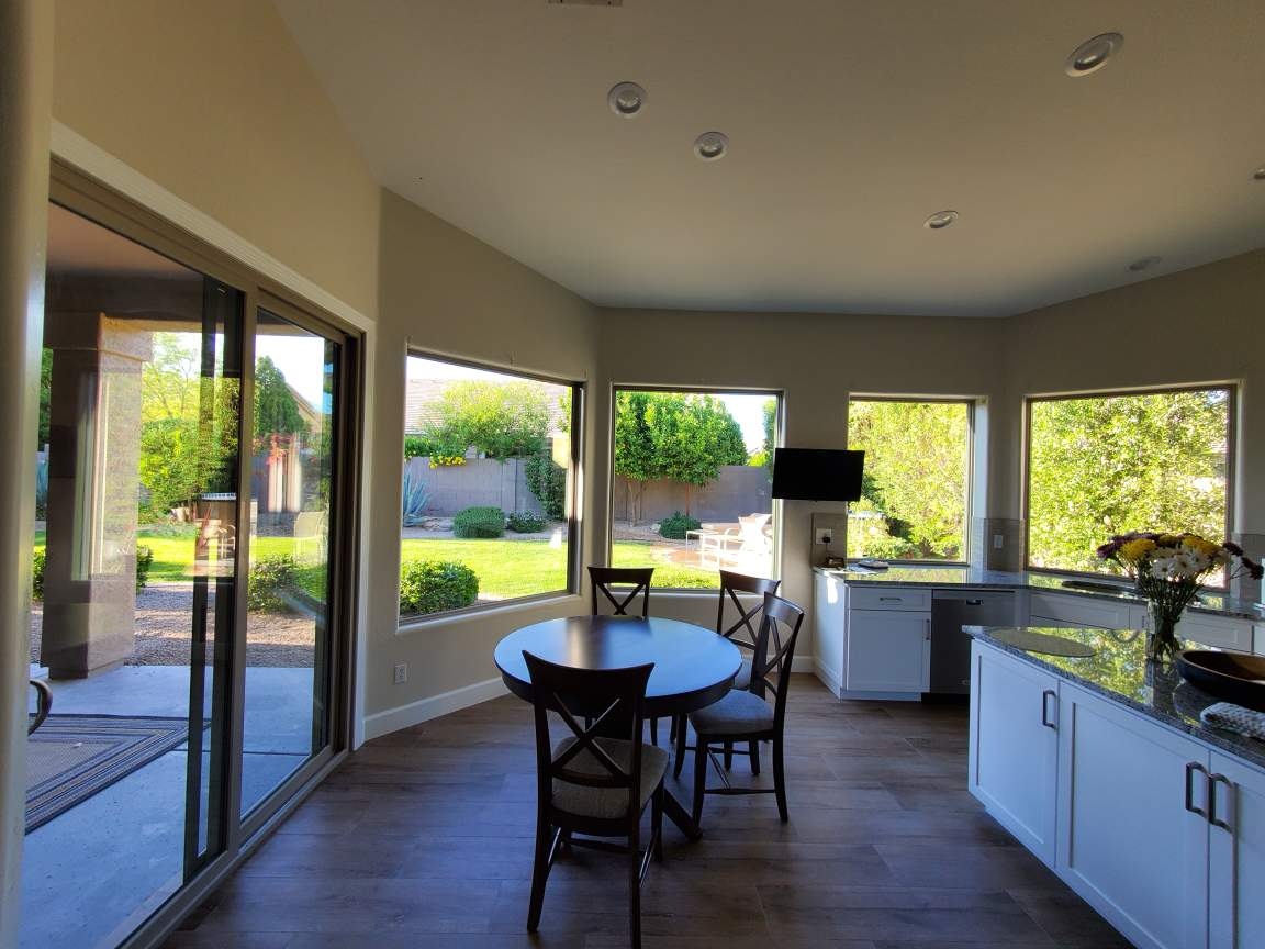 Arizona Window and Door in Scottsdale and Tucson showing home's back slider door and large windows