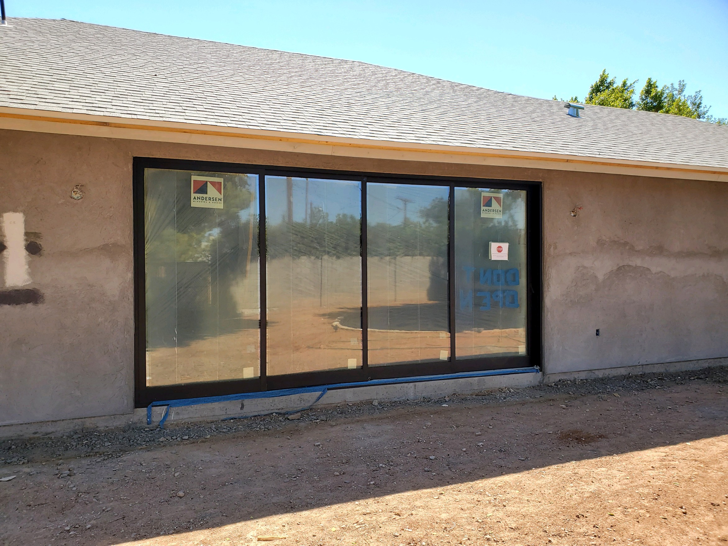 Arizona Window and Door in Scottsdale and Tucson showing construction of a patio sliding door