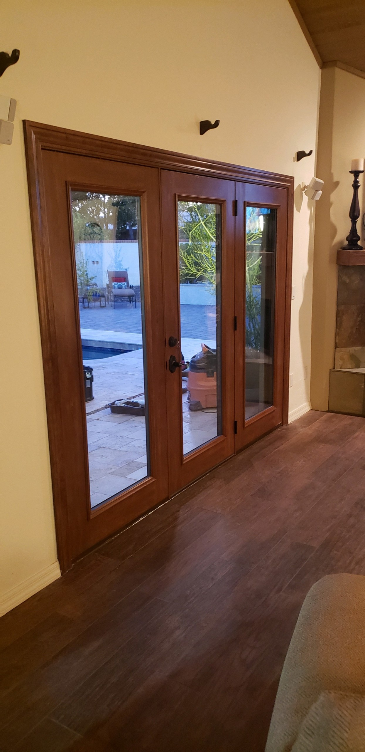 Arizona Window and Door in Scottsdale and Tucson showing wood french doors