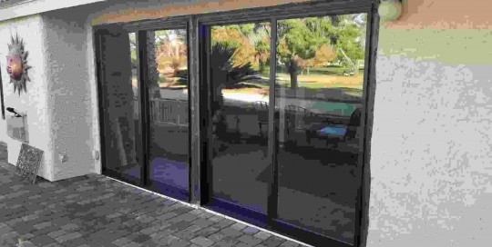Arizona Window and Door in Scottsdale and Tucson showing back door slider