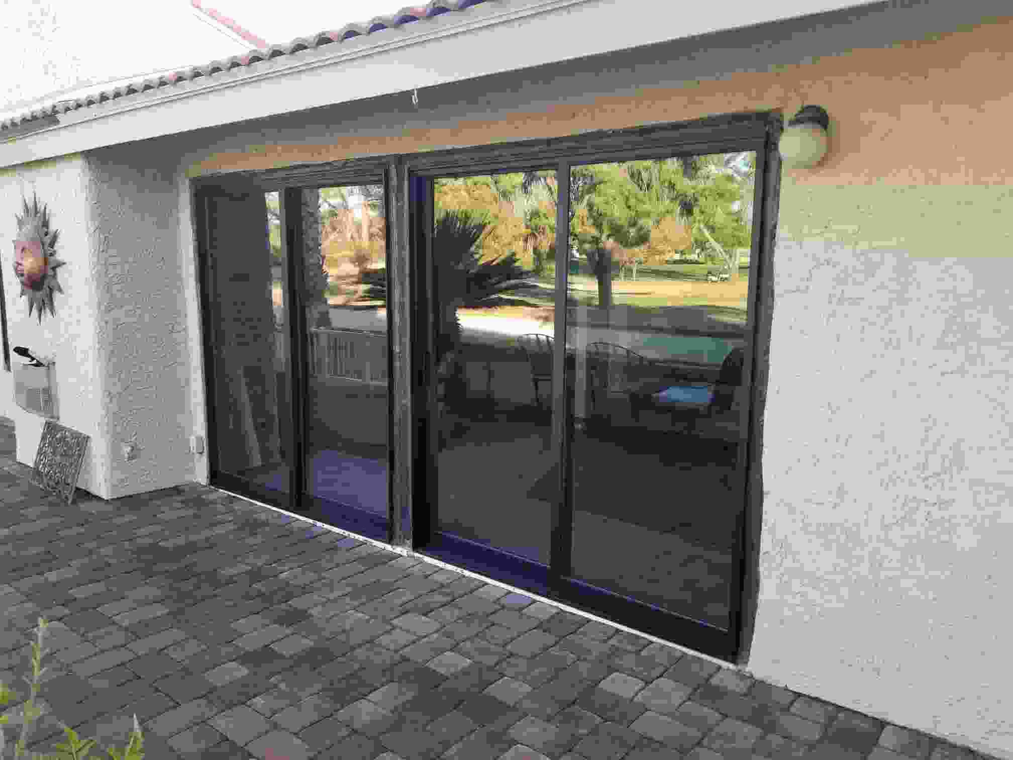 Arizona Window and Door in Scottsdale and Tucson showing back door slider