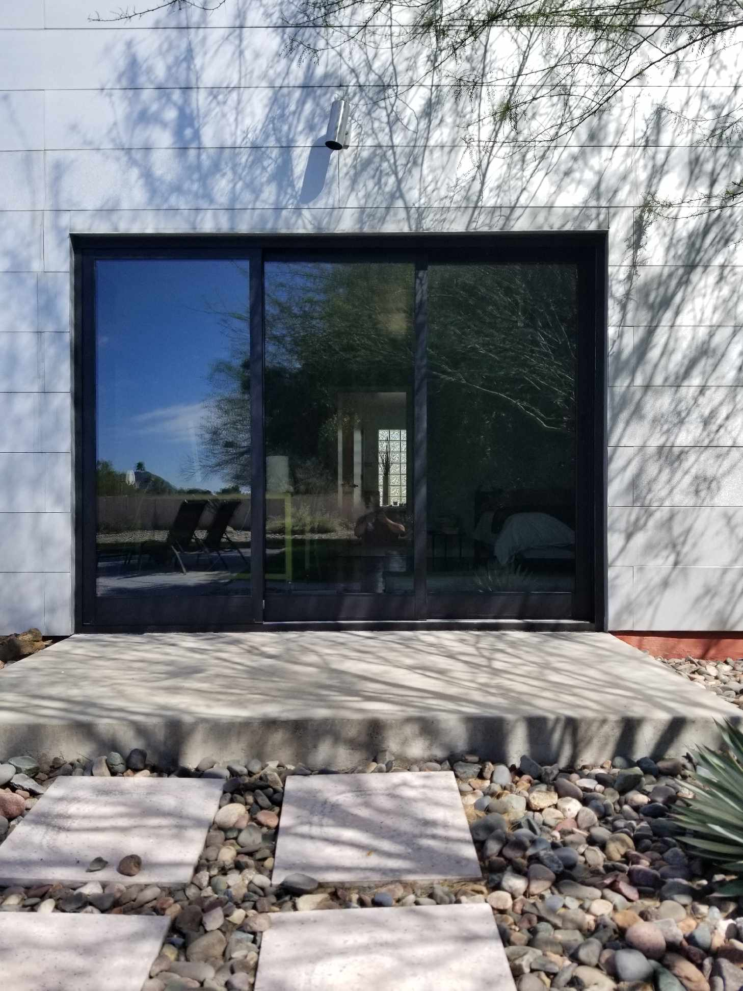 Arizona Window and Door in Scottsdale and Tucson showing black panel doors