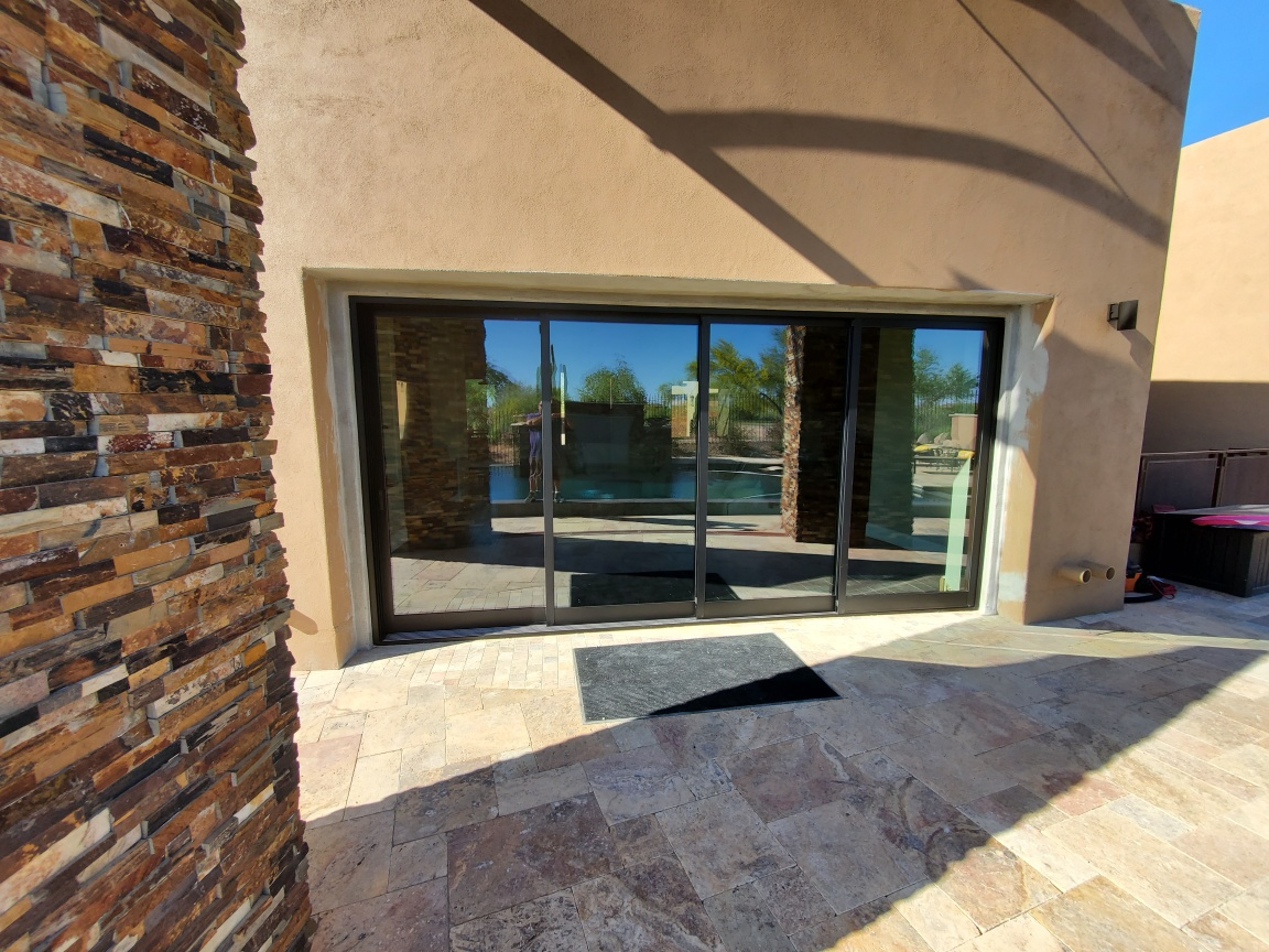 Arizona Window and Door in Scottsdale and Tucson showing modern black panel doors