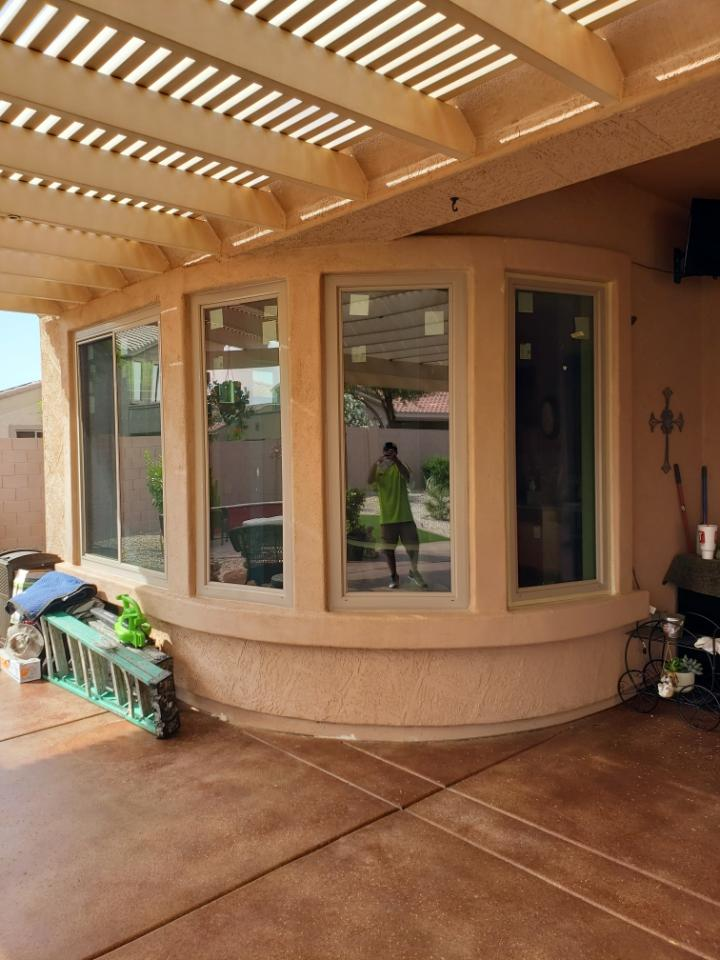 Arizona Window and Door in Scottsdale and Tucson showing wood windows from patio