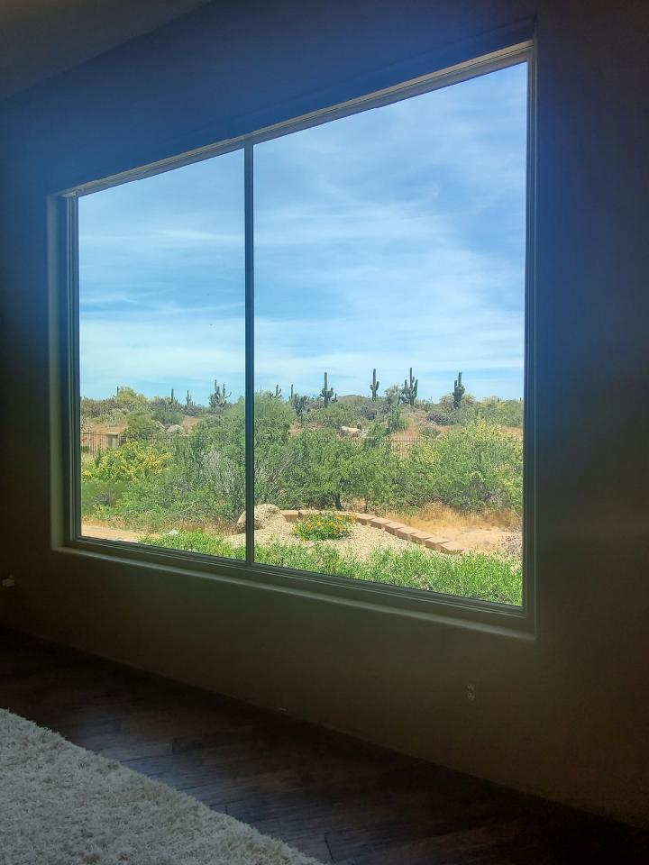 Arizona Window and Door in Scottsdale and Tucson showing large windows to outside
