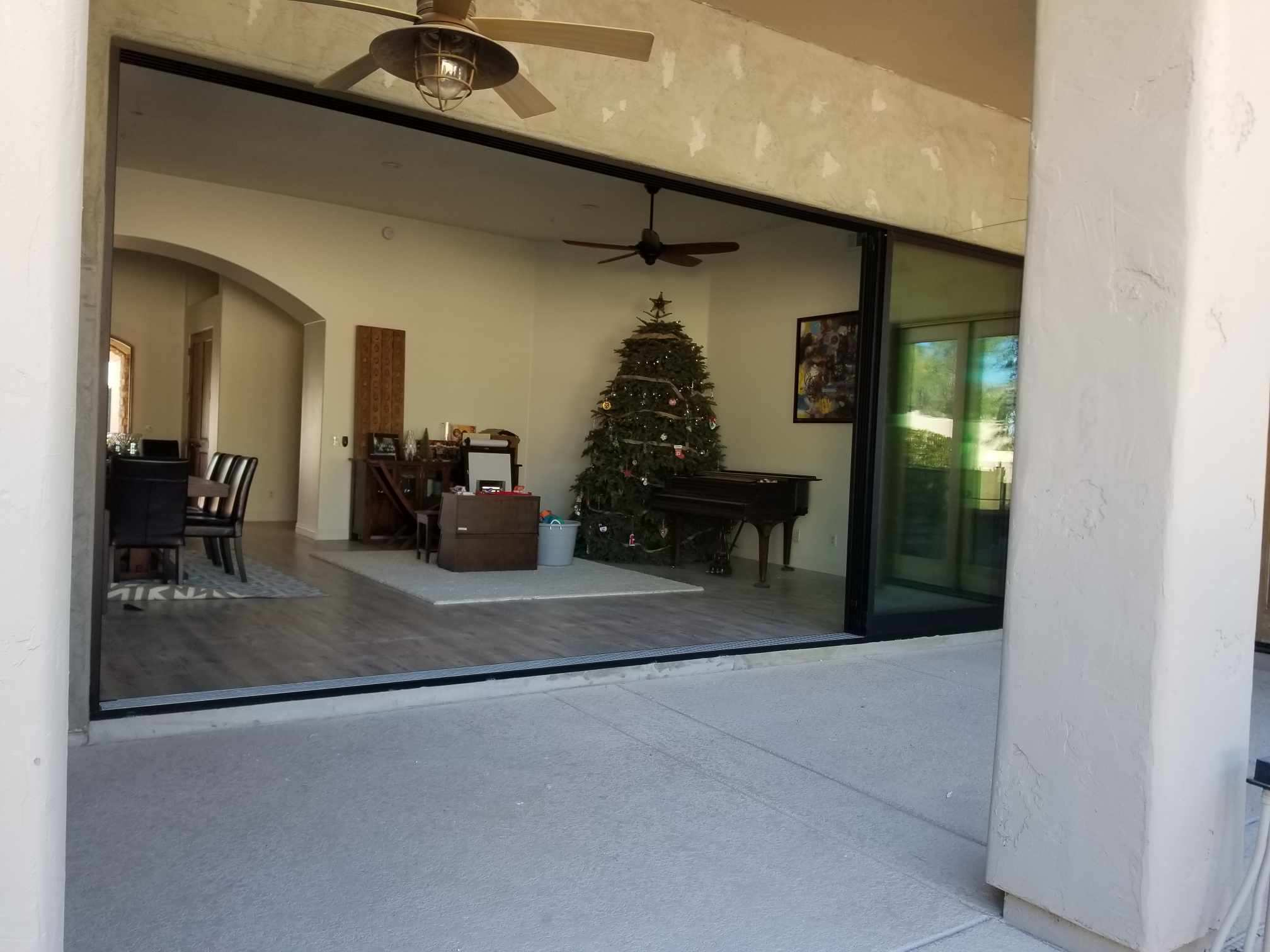 Arizona Window and Door in Scottsdale and Tucson showing large panel doors open