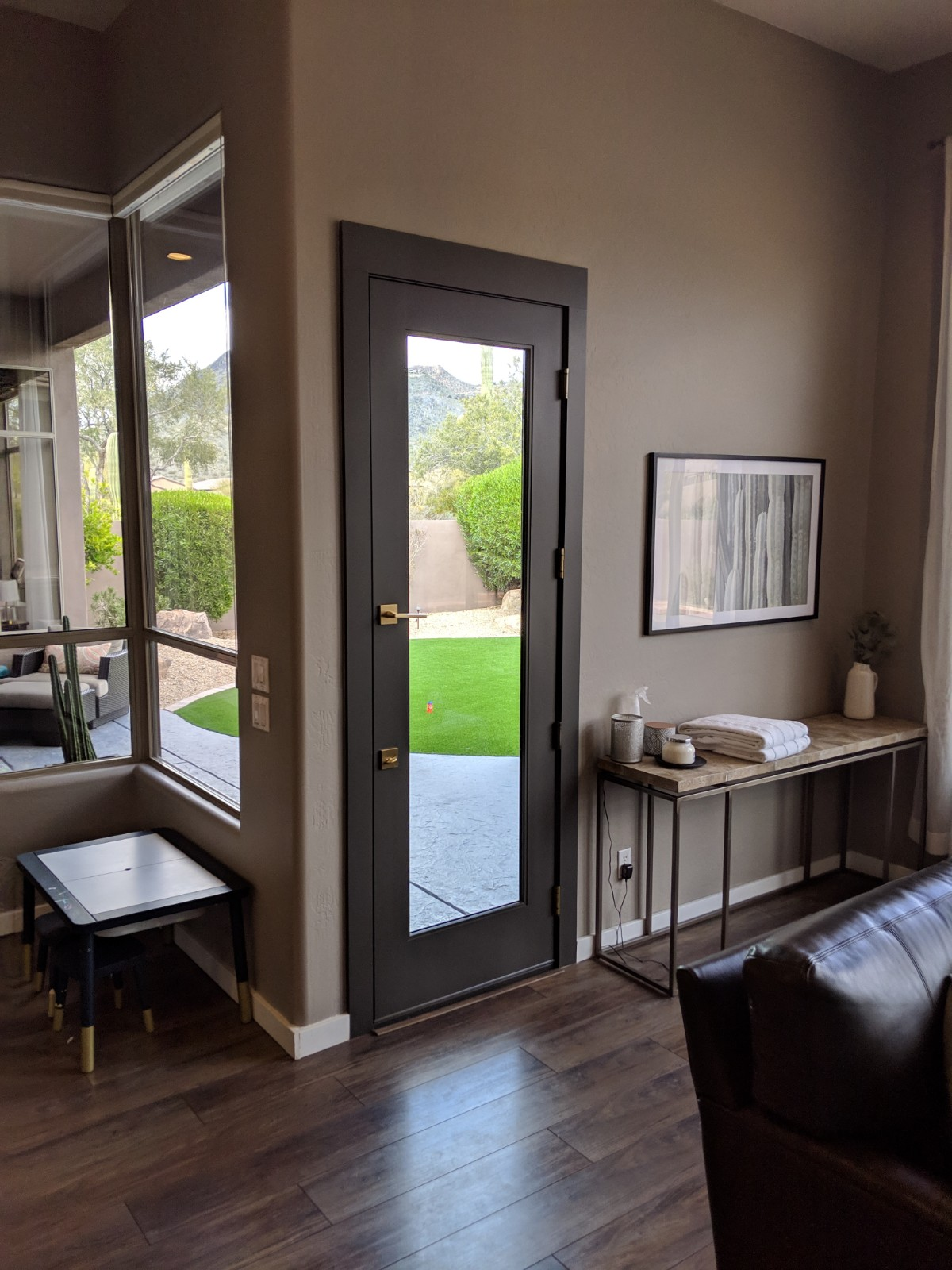Arizona Window and Door in Scottsdale and Tucson showing small door to backyard with window