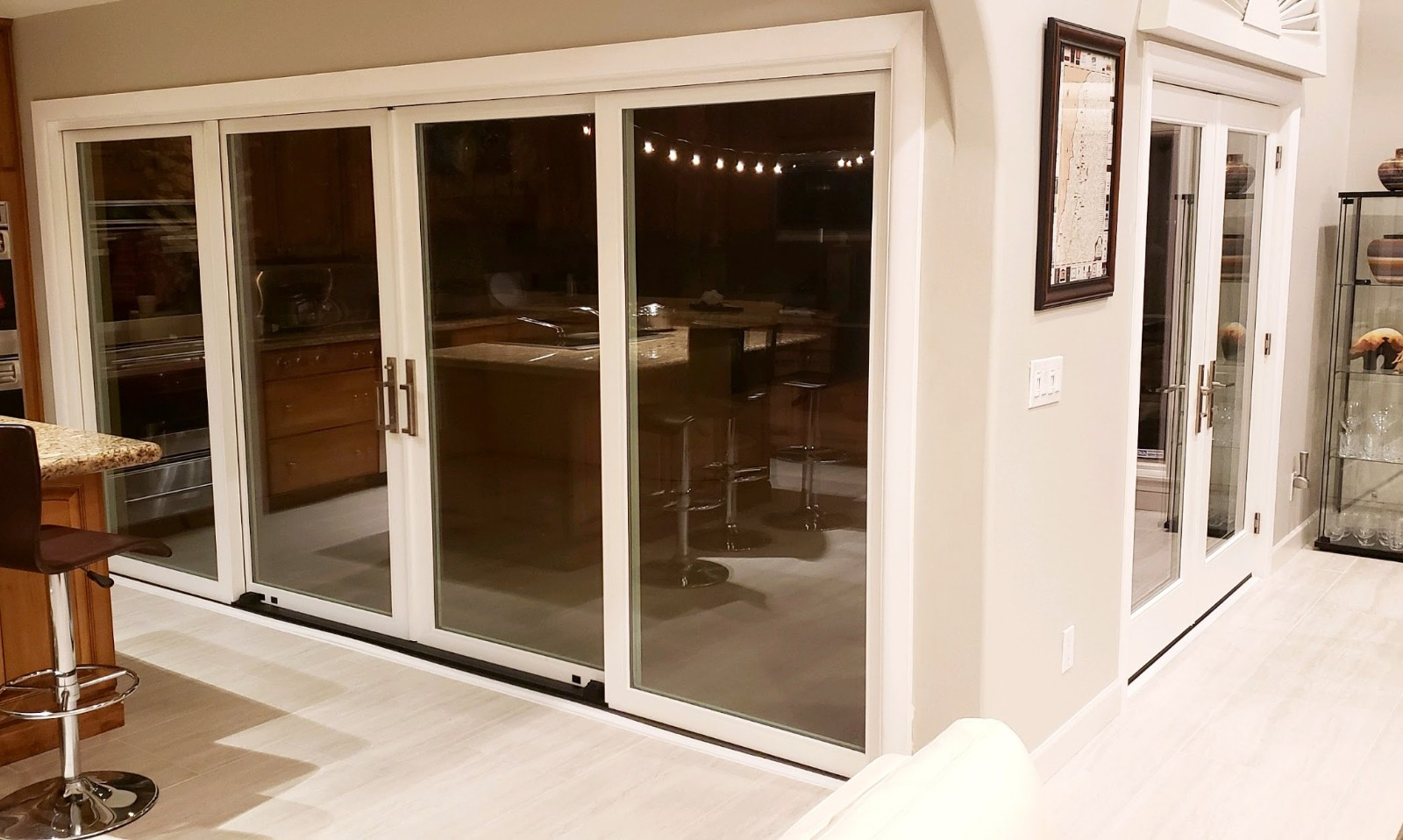 Arizona Window and Door in Scottsdale and Tucson showing white panel doors with large windows