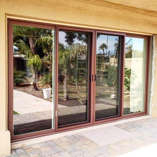 Arizona Window and Door in Scottsdale and Tucson showing sliding french doors of home