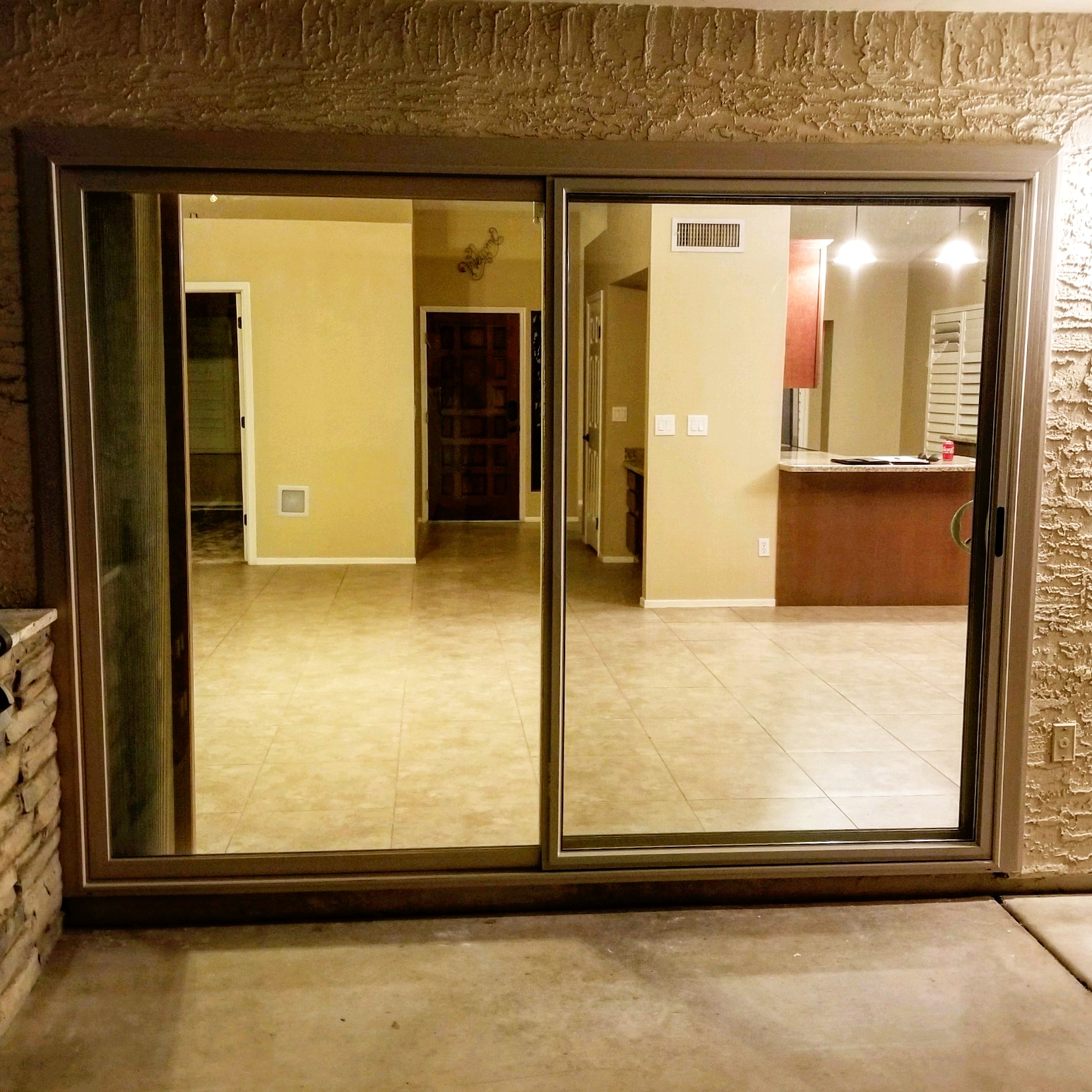 Arizona Window and Door in Scottsdale and Tucson showing back sliding door