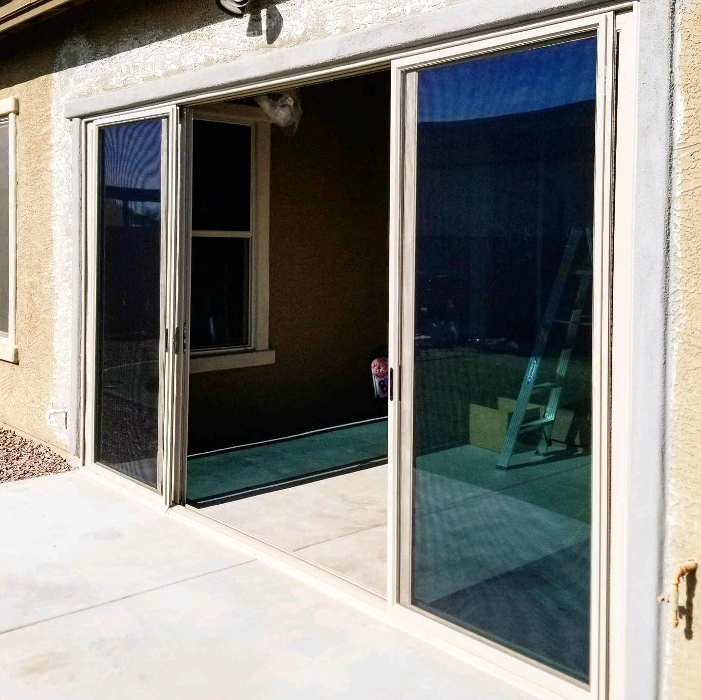 Arizona Window and Door in Scottsdale and Tucson showing back sliding door of home
