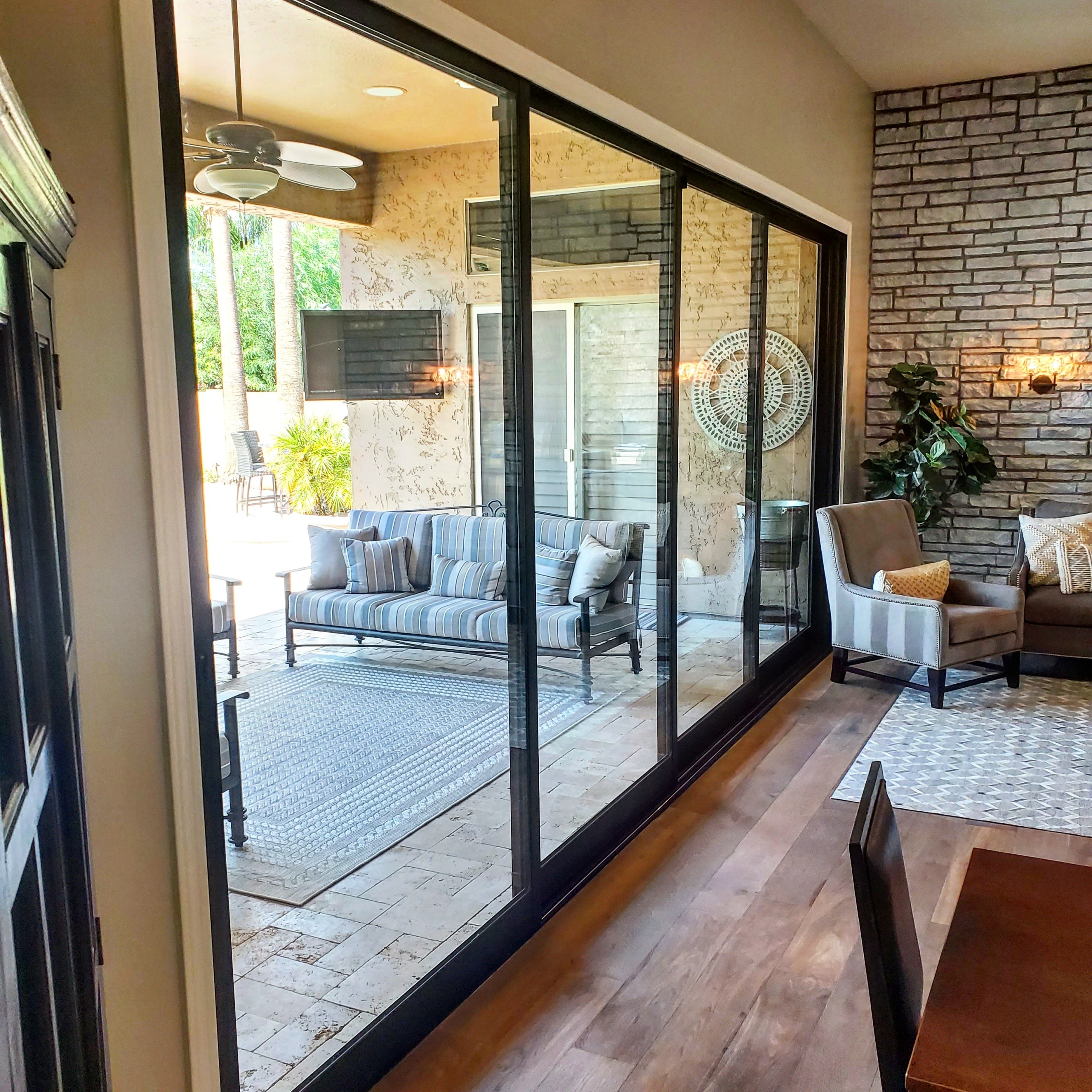 Arizona Window and Door in Scottsdale and Tucson showing large panel doors of home