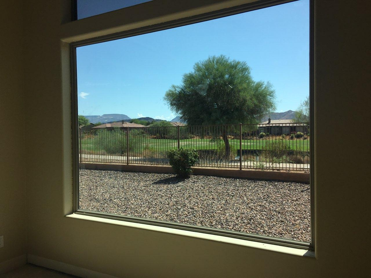 Arizona Window and Door in Scottsdale and Tucson showing vinyl window to outside
