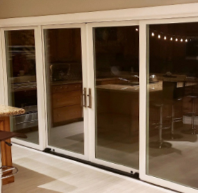 Arizona Window and Door in Scottsdale and Tucson showing white sliding doors