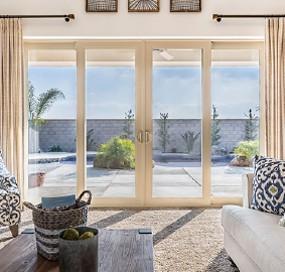 Arizona Window and Door in Scottsdale and Tucson showing white back door slider