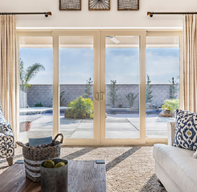 Arizona Window and Door in Scottsdale and Tucson showing white back door slider