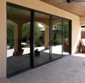 Arizona Window and Door in Scottsdale and Tucson showing panel back doors