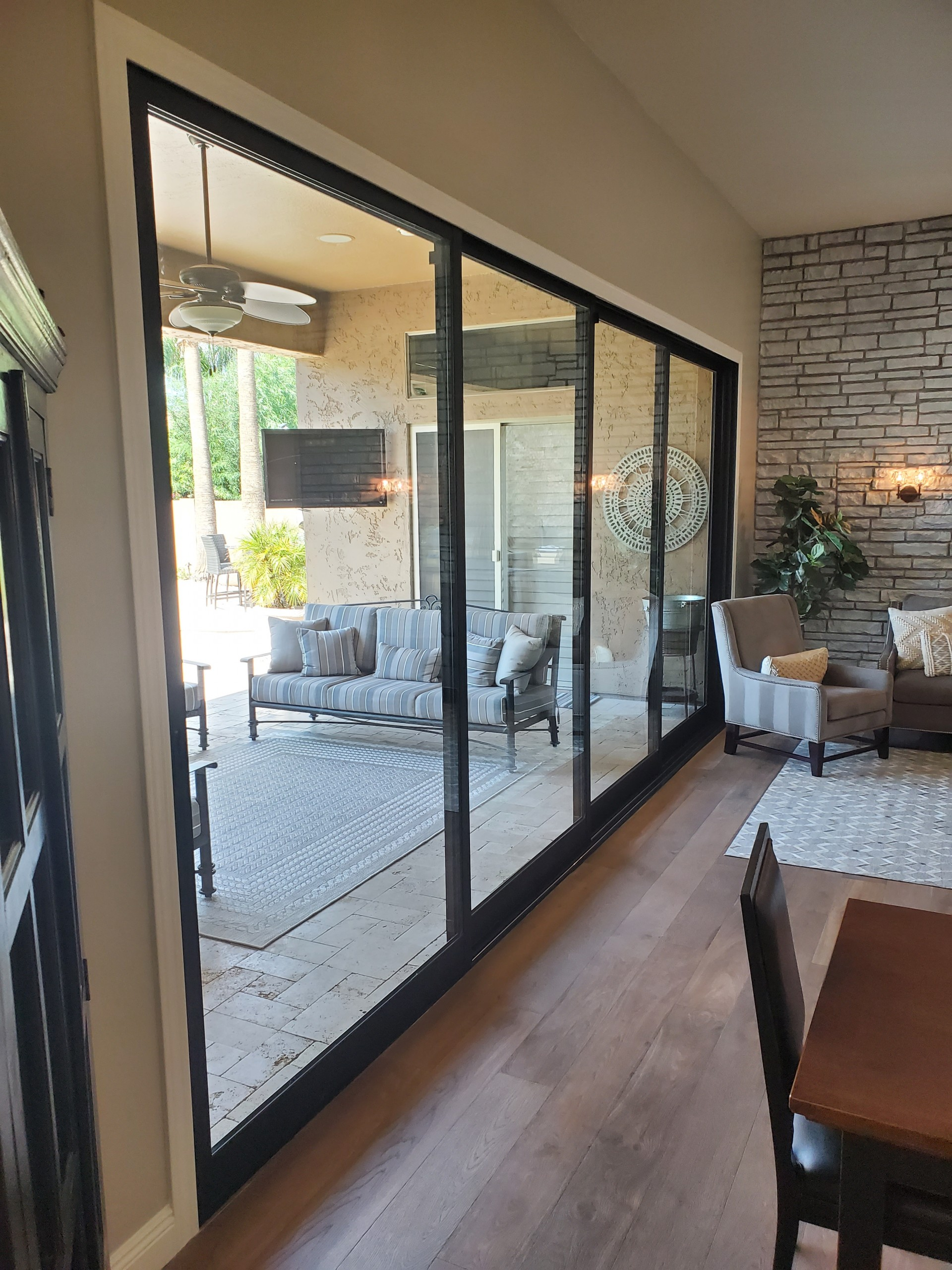 Arizona Window and Door in Scottsdale and Tucson showing multipanel sliding door