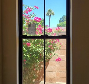 Arizona Window and Door in Scottsdale and Tucson showing black windows of home